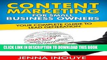 [PDF] Content Marketing for Small Business Owners: Your complete guide to lead generation. Popular
