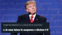 Donald Trump refuse de dire s'il acceptera le résultat de l'élection