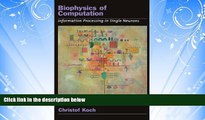Popular Book Biophysics of Computation: Information Processing in Single Neurons (Computational