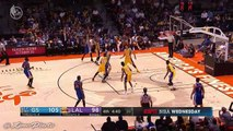 Stephen Curry Three 3-Pointers in a Row - Warriors vs Lakers - Oct 19, 2016 - 2016 NBA Preseason