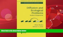 eBook Download Diffusion and Ecological Problems: Modern Perspectives (Interdisciplinary Applied
