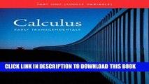 [EBOOK] DOWNLOAD Single Variable Calculus: Early Transcendentals (Briggs/Cochran Calculus) PDF