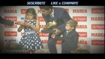 Los hijos de Luis Suárez entregaron la Bota de Oro a su 'papá' ◉ FC Barcelona ◉