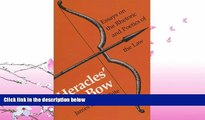 READ book  Heracles  Bow: Essays On The Rhetoric   Poetics Of The Law (Rhetoric of the Human