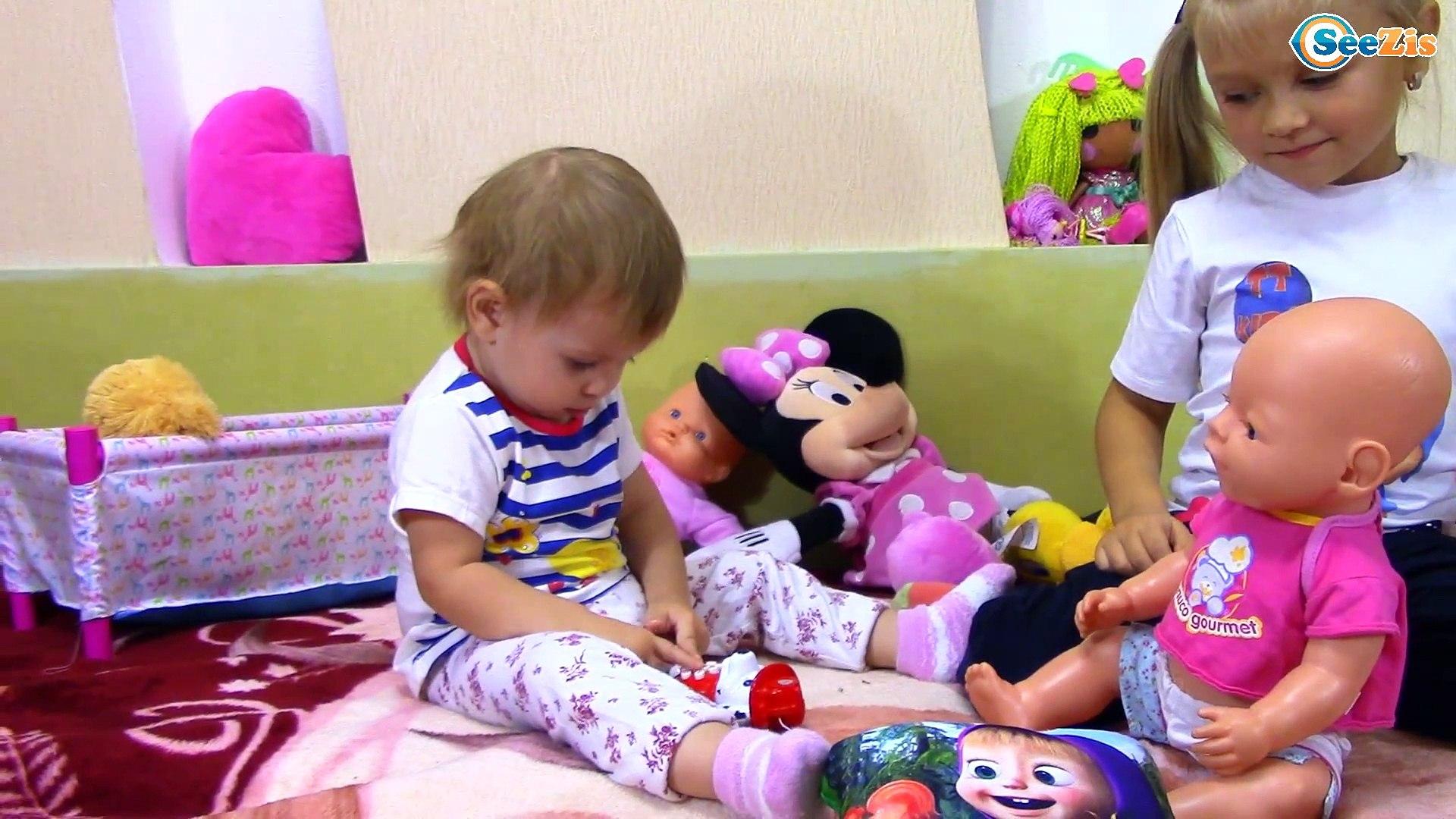 Играем с Куклой Беби Бон Видео для детей с Ярославой и Ариной Playing Baby Born Dolls