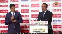 Luis Suárez gana y recibe la Bota de Oro 2016 - Suárez Golden European Golden