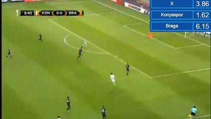 Гол Дени Милошевич · Коньяспор (Конья) - Брага (Брага) - 1:0