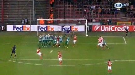 Ishak Belfodil Goal - St. Liege 2-2 Panathinaikos 20.10.2016