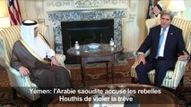 Yémen: l'Arabie saoudite accuse les rebelles Houthis