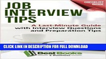 [PDF] Job Interview Tips: A Last-Minute Guide with Interview Questions and Preparation Tips