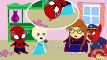 Spiderman Wet the Bed Frozen Elsa Prank Funny! Spiderman Frozen Elsa Superheroes In Real Life