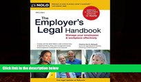 different   The Employer s Legal Handbook: Manage Your Employees   Workplace Effectively