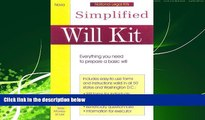 READ book  Simplified Will Kit: Prepare Your Own Will Without Using a Lawyer (Simplified Will Kit