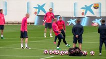 FC Barcelona training session: final workout before Valencia trip