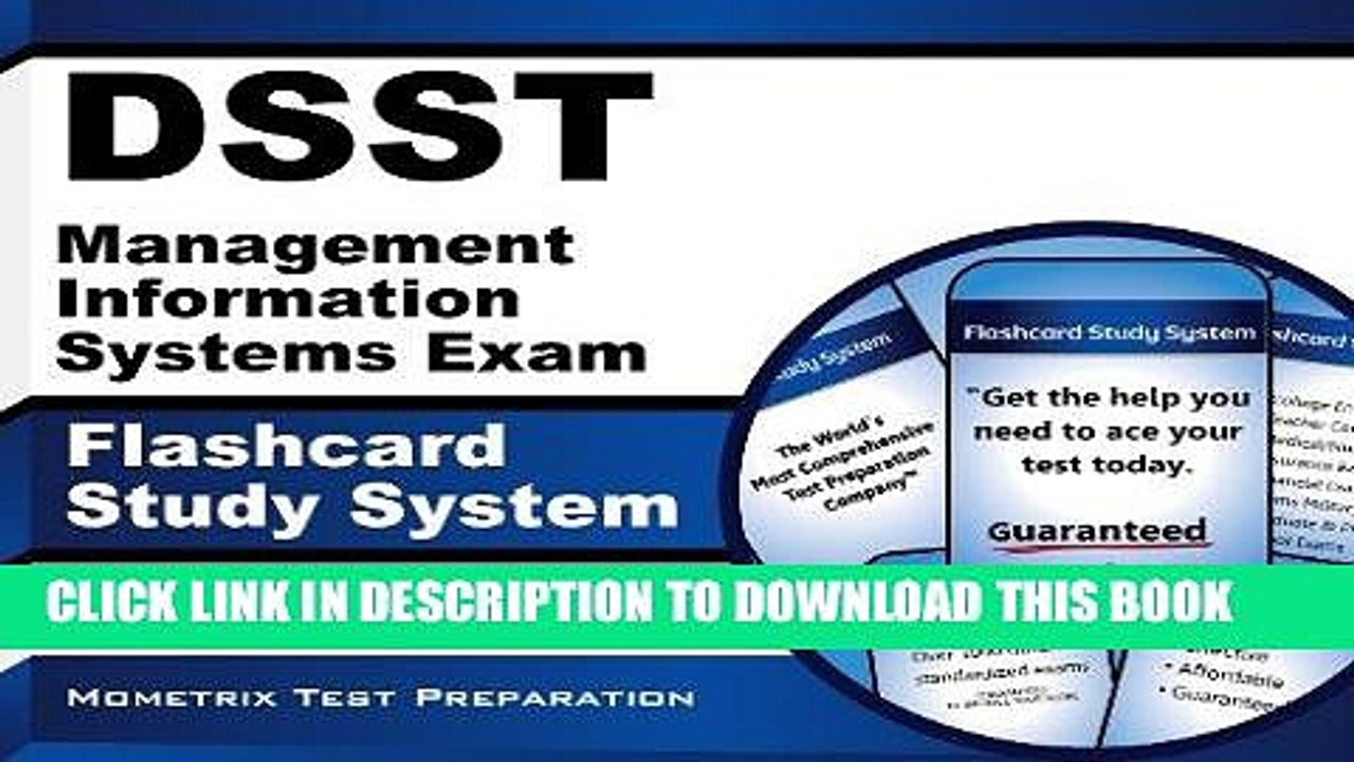 [Free Read] DSST Management Information Systems Exam Flashcard Study  System: DSST Test Practice