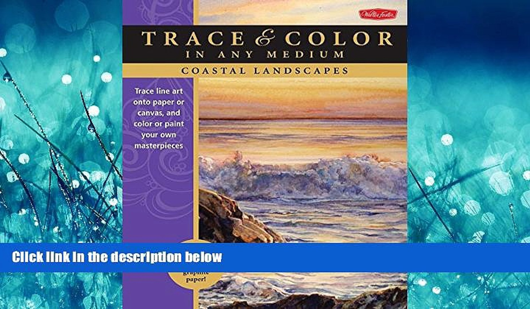 FREE PDF Coastal Landscapes: Trace line art onto paper or canvas, and color  or paint your own