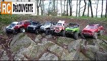 Modelisme nantes : 7 Scale 4x4 Komodo Scx10 Jeep Honcho DeadBolt Ram Camion de pompier sur Rochers Racines Gorges 44