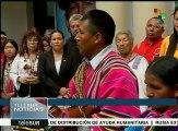 Pueblos originarios del Mercosur rinden homenaje a Hugo Chávez