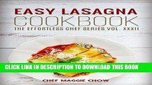[Free Read] Easy Lasagna Cookbook (Lasagna Cookbook, Lasagna Recipes, Lasagna, Lasagna Cooking,