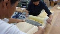 Des tranches de bois plus fines que du papier ! Maître Japonais