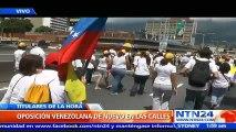 Oposición venezolana de nuevo en las calles para exigir la realización del referendo revocatorio
