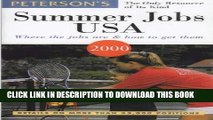 [Read] Ebook Peterson s Summer Jobs USA: Where the Jobs Are   How to Get Them (Summer Jobs in the