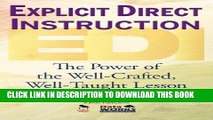 [Ebook] Explicit Direct Instruction (EDI): The Power of the Well-Crafted, Well-Taught Lesson