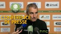 Conférence de presse Stade Lavallois - Stade Brestois 29 (0-1) : Denis ZANKO (LAVAL) - Jean-Marc FURLAN (BREST) - 2016/2017
