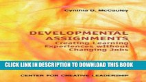 [Read] Ebook Developmental Assignments: Creating Learning Experiences Without Changing Jobs (CCL)