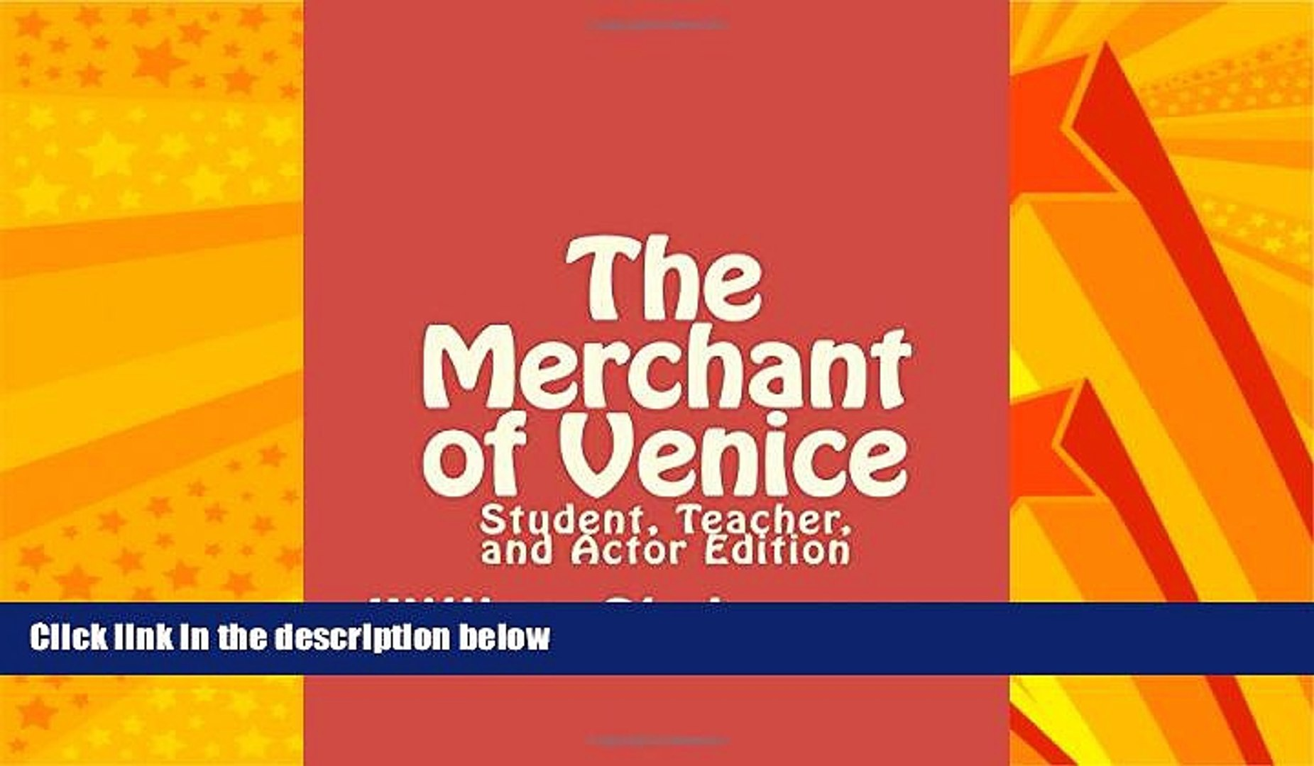 FREE DOWNLOAD  The Merchant of Venice: Student, Teacher, and Actor Edition  DOWNLOAD ONLINE