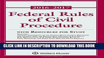 [PDF] Federal Rules of Civil Procedure: 2016-2017 Statutory Supplement with Resources for Study