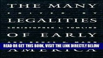 [EBOOK] DOWNLOAD The Many Legalities of Early America (Published for the Omohundro Institute of