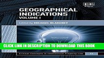 [PDF] Geographical Indications (Critical Concepts in Intellectual Property Law series, #11)