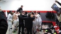 Joie dans les vestiaires après Calais 1-0