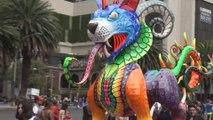 Criaturas fantásticas recorren la Ciudad de México en el desfile de Alebrijes Monumentales