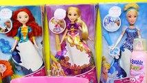 COLOR CHANGE Disney Princess Barbie Dolls Magic Ink Dress-Up Barbie Bath & Mr Bubble Bath Foam Dolls