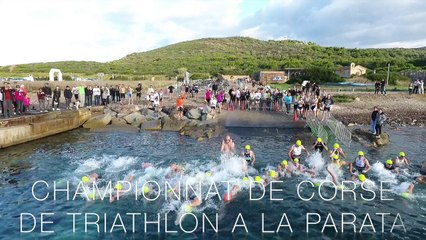 VIDEO. Championnat de Corse de triathlon à La Parata