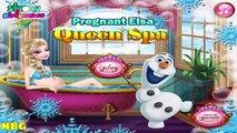 Frozen Games - Pregnant Elsa Queen Spa - Princess Elsa Game  #Kidsgames #Barbiegames