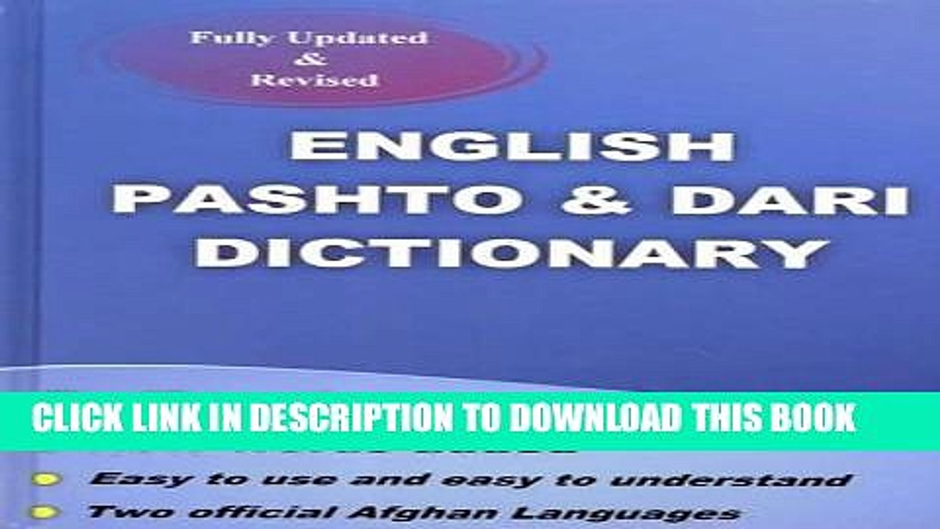 [Read] PDF English Pashto Dari Dictionary New Reales