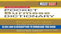 [Read] Ebook Pocket Burmese Dictionary: Burmese-English English-Burmese (Periplus Pocket