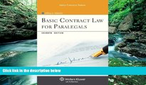Big Deals  Basic Contract Law for Paralegals, Seventh Edition (Aspen College)  Full Ebooks Most