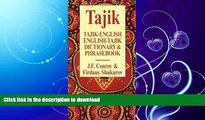 FAVORITE BOOK  Tajik-English English-Tajik Dictionary   Phrasebook (Hippocrene Dictionary