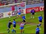 04.03.1992 - 1991-1992 UEFA Cup Winners' Cup Quarter Final 1st Leg Atletico Madrid 3-2 Club Brugge