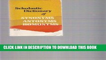 Read Now Dictionary of Synonyms and Antonyms PDF Online