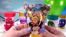 PJ MASKS make your own pj masks slime! diy easy glitter rainbow slime clay! 2016 7
