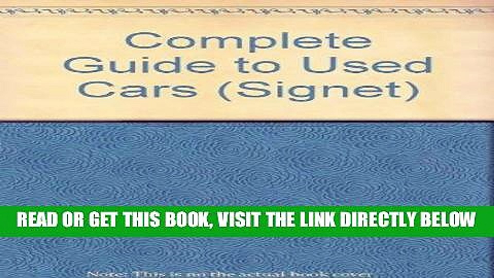 [READ] EBOOK The Complete Guide to Used Cars 1992: 1992 Edition (Signet) ONLINE COLLECTION