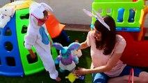 Build-A-Bear Workshop GIANT Egg Hunt with HUGE Surprise Eggs & Easter Bunny Baskets Hide & Go Seek