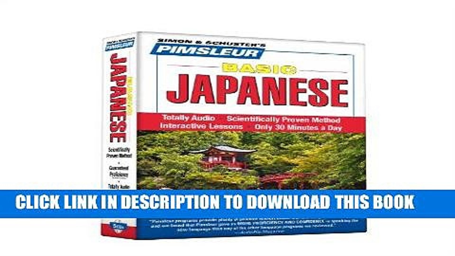 pimsleur japanese download