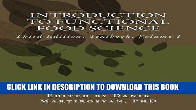 [New] Ebook Introduction to Functional Food Science, Third Edition: Third Edition, Textbook