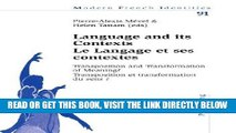 [READ] EBOOK Language and its Contexts-- Le Langage et ses contextes: Transposition and